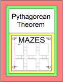 """Pythagorean Theorem and its Converse - 3 MAZES and """"Design Your Own"""" MAZE, 10"""
