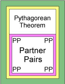 Triangles - Pythagorean Theorem (Partner Pairs)