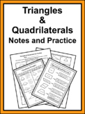 Triangles & Quadrilaterals Notes and Practice