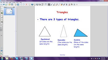 Triangles Smartboard File