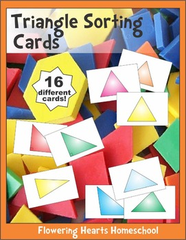 Triangles Sorting Cards