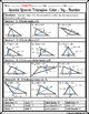 Triangles - Special Lines in Triangles Color-By-Number (Alien) Worksheet