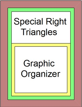 Special Right Triangles Graphic Organizer and 6 Warmups/Exit tickets