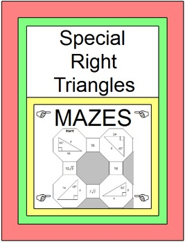 Special Right Triangles (2 MAZES)