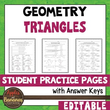Triangles - Student Practice Pages