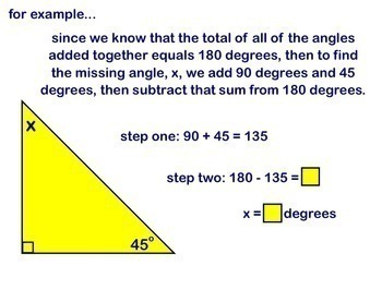 Triangles Sum of Angle Measures in a Triangle Geometry Smartboard Lesson