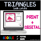 Triangles Task Cards ~7.G.2~ Distance Learning