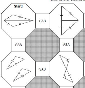 Triangles Congruent Triangles 5 Mazes Sss Asa Etc 20 Task Cards