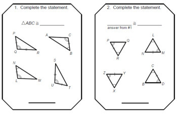 Triangles - Triangle Congruence RELAY RACE Game (8 rounds of 4 problems)