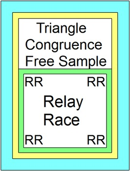 Triangles - Triangle Congruence RELAY RACE (Sample 1 page)