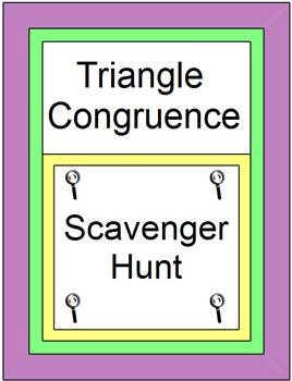 Triangles - Triangle Congruence SCAVENGER HUNT / Circuit(SSS, SAS, ASA, AAS, HL)