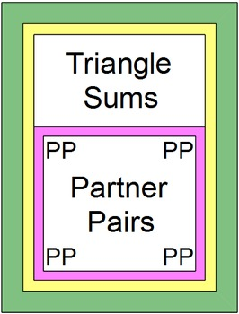 Triangles - Triangle Sums (Partner Pairs) with 8 Exit Tickets