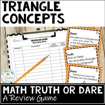 Triangles Truth or Dare Review Game