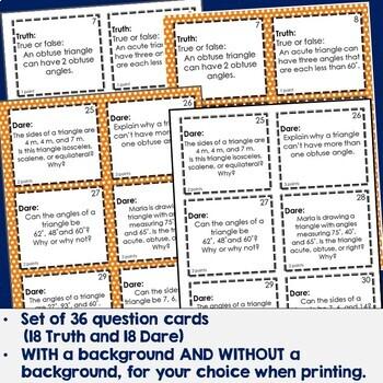 Triangles Truth or Dare Math Game
