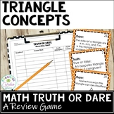 Triangles Truth or Dare Math Game