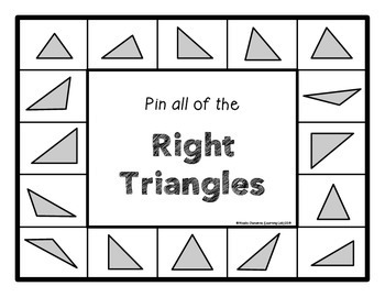 Triangles (acute, obtuse, right) - Self-Checking Math Centers - Geometry