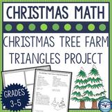 Triangles and Angles Christmas Tree Farm Geometry Craftivity