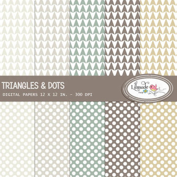 Triangles and Dots Digital Papers