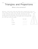 Triangles and Proportions: Where is the Connection?