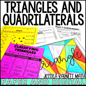 Triangles and Quadrilaterals Lesson Bundle