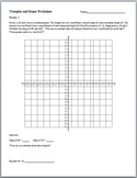 Triangles and Slope Worksheet