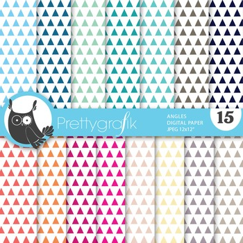 Triangles geometric digital paper, commercial use, scrapbook papers - PS642