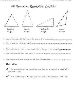 Triangles geometry shapes