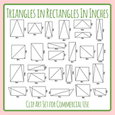Triangles in Rectangles for Area - Measured in Inches Math Clip Art Set