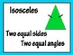 Triangles (posters and around the room activity)