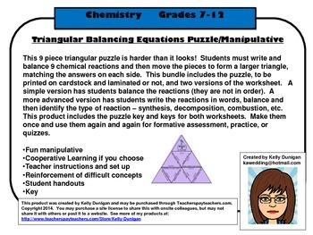 Triangular Balancing Equations Puzzle/Manipulative