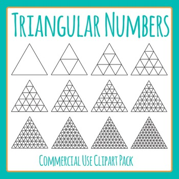 Triangular Numbers Clip Art Set for Commercial Use