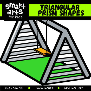 Triangular Prism Shapes Clip Art