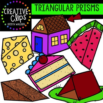 Triangular Prism Clipart {Creative Clips Clipart}