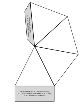 Triangular Pyramids - 3D journaling tool and foldable