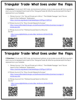 Trade Foldable Graphic: Using Primary and Secondary Sources