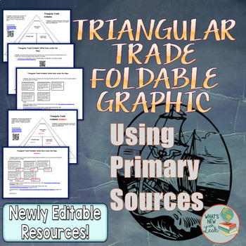 Triangular Trade Foldable Graphic Using Primary Sources