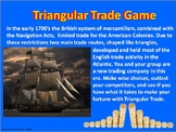 Triangular Trade Game  -Colonial America Navigation Acts & Intolerable Acts