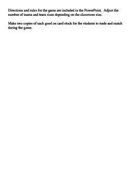 Triangular Trade List of Goods