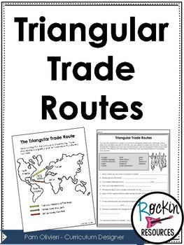 Triangular Trade Worksheets by Rockin Resources | TpT