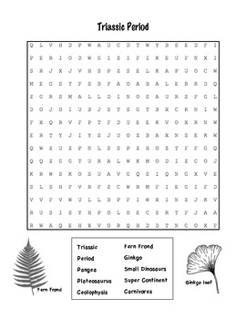 Triassic Period Word Search