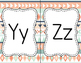 Tribal Theme Alphabet Posters - Navy & Coral