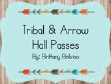 Tribal & Arrow Hall Pass EDITABLE FREEBIE