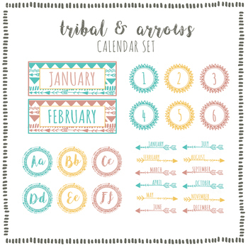 Tribal & Arrows Calendar Set