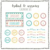 Tribal & Arrows Calendar Set