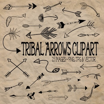 Tribal Arrows Clip Art - 25 PNG, JPG and EPS Vector Images
