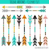 Tribal Arrows Clipart Set