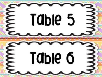 Tribal Aztec Bohemian Modern Table Group Labels Signs Organization