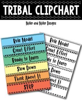 Tribal Behavior Clipchart ( Clip chart )