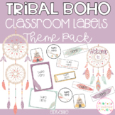 Tribal Boho Classroom Theme Pack - Editable Name Tags, Labels and Posters