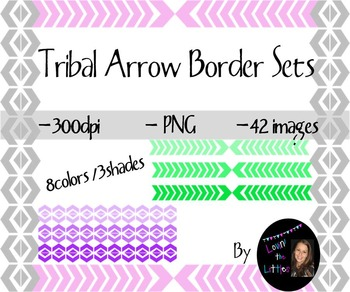 Tribal Borders- 48images- 8colors in 3shades- Personal or